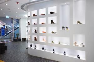 Schuhe in Schuhladen