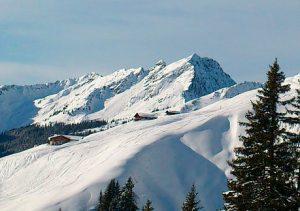 Schneelandschaft in Fieberbrunn