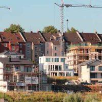 Alte Häuser und Neubauten in Dortmund