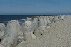Tetrapoden als Wellenbrecher
