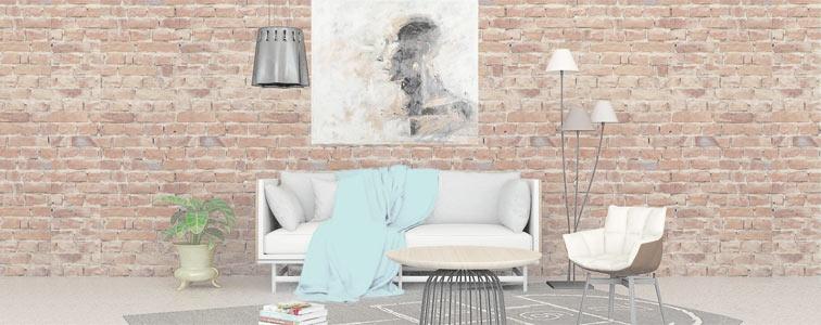 Wohnzimmer im Wabi-Sabi-Stil